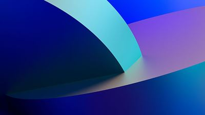 Abstract 3d rendering of a blue geometric background