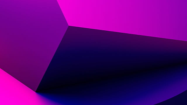 Abstract 3d rendering of a pink geometric background 640x360