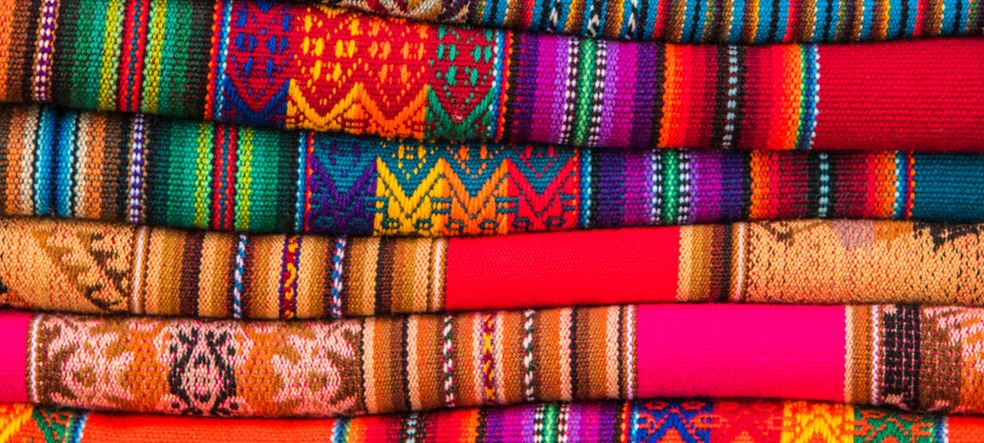 Rugged andean textile and fabrics