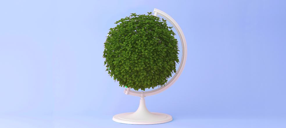 Sustainability green globe 1200x540