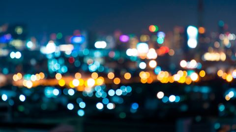 City light blur bokeh, defocused background