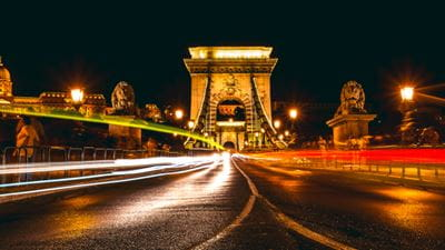 Long Exposure photo of Chain Bridge in Budapest
