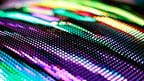 Colored curved LED smd screen - close up background