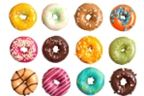 Coloured doghnuts image