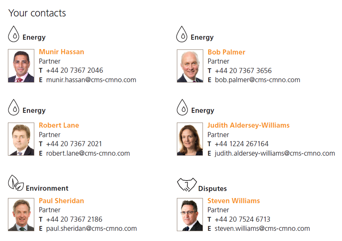 CMS Brexit Next Energy Contacts