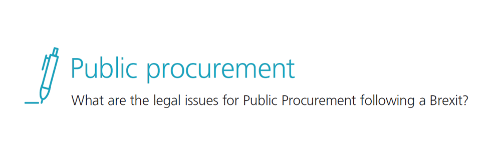 What are the legal issues for Public procurement following a Brexit?