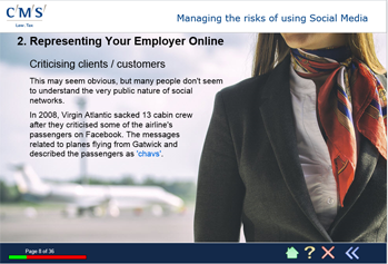 Representing your employer online