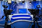 tv studio with cameras