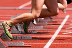 Sprinting starting blocks image