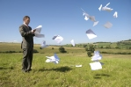 papers in the wind image